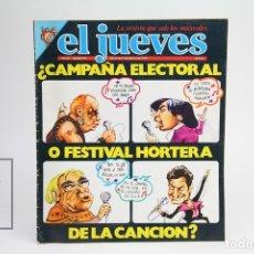 Coleccionismo de Revista El Jueves: PUBLICACIÓN / REVISTA - EL JUEVES Nº 91 / CAMPAÑA ELECTORAL O FESTIVAL HORTERA - FEBRERO DE 1979. Lote 143586358