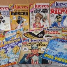 Coleccionismo de Revista El Jueves: REVISTAS EL JUEVES. AÑO 2001. 12 UNIDADES DIFERENTES.. Lote 147009354