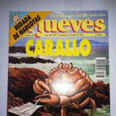 Coleccionismo de Revista El Jueves: EL JUEVES REVISTA DE HUMOR AÑOS 90 NUM 683 AÑO XIV DEL 27 DE JUNIO AL 03 DE JULIO DE 1990. Lote 147070978