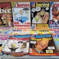 Coleccionismo de Revista El Jueves: REVISTAS EL JUEVES. AÑO 1999. 12 UNIDADES DIFERENTES.. Lote 147152474