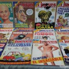 Coleccionismo de Revista El Jueves: REVISTAS EL JUEVES. AÑO 1998. 12 UNIDADES DIFERENTES.. Lote 147153026