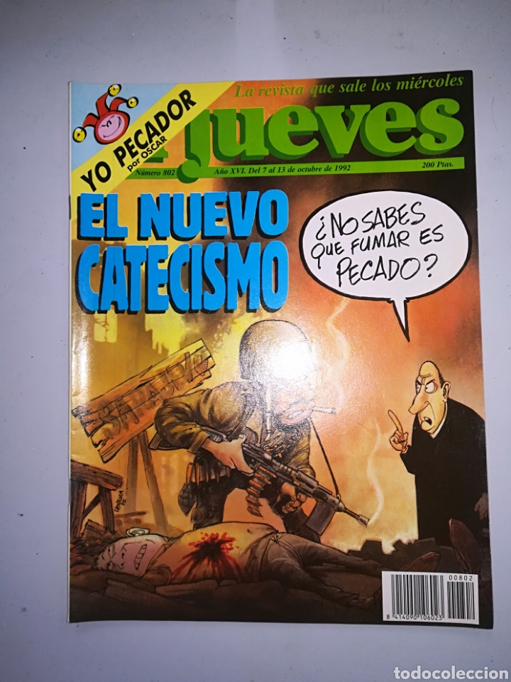 REVISTA EL JUEVES NUM 802 AÑO XVI DEL 7 AL 13 DE OCTUBRE DE 1992 (Coleccionismo - Revistas y Periódicos Modernos (a partir de 1.940) - Revista El Jueves)