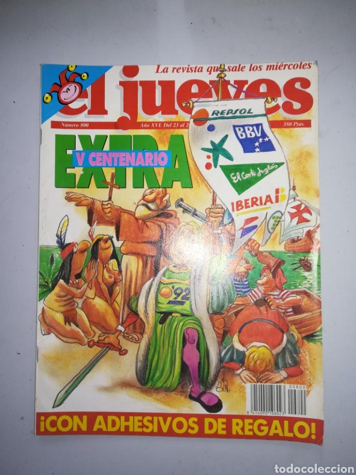 REVISTA EL JUEVES NUM 800 AÑO XVI DEL 23 AL 29 DE SEPTIEMBRE DE 1992 (Coleccionismo - Revistas y Periódicos Modernos (a partir de 1.940) - Revista El Jueves)