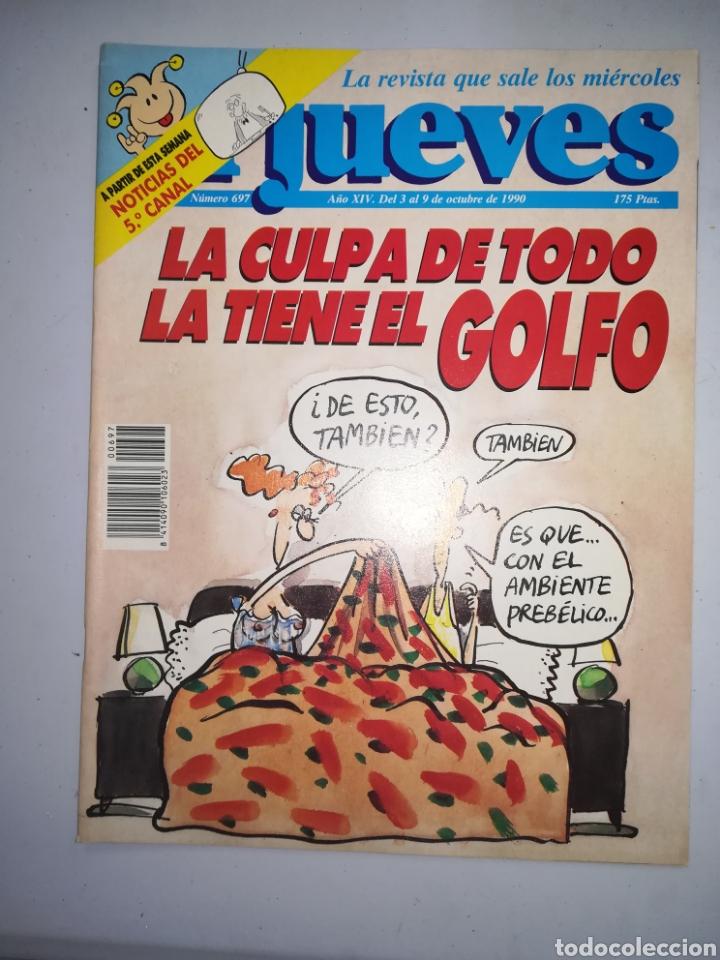 REVISTA EL JUEVES NUM XIV NUM 697 DEL 3 AL 9 DE OCTUBRE DE 1990 (Coleccionismo - Revistas y Periódicos Modernos (a partir de 1.940) - Revista El Jueves)