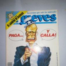 Coleccionismo de Revista El Jueves: REVISTA EL JUEVES NUM 694 AÑO XIV DEL 12 AL 18 DE SEPTIEMBRE DE 1990. Lote 147734169