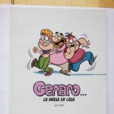 Coleccionismo de Revista El Jueves: INÉDITOS DE EL JUEVES, GENARO... LA BRASA EN CASA POR MEL. Lote 147759130