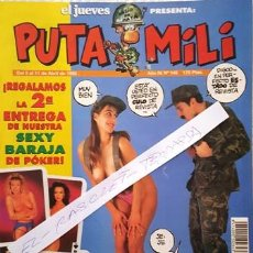Coleccionismo de Revista El Jueves: REVISTA EL JUEVES - PUTA MILI - DEL 5 AL 11 ABRIL DE 1995 - AÑO IV - Nº 145 -. Lote 148249726