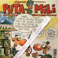 Coleccionismo de Revista El Jueves: REVISTA EL JUEVES - PUTA MILI - DEL 12 AL 18 DICIEMBRE DE 1995 - AÑO IV - Nº 181 -. Lote 148249842