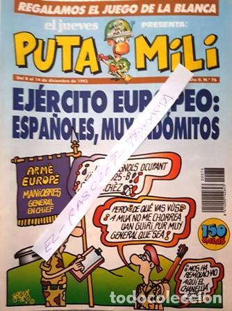 REVISTA EL JUEVES - PUTA MILI - 8 AL 14 DICIEMBRE 1993 - AÑO II - Nº 76- (Coleccionismo - Revistas y Periódicos Modernos (a partir de 1.940) - Revista El Jueves)