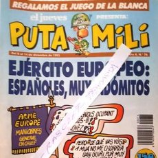 Coleccionismo de Revista El Jueves: REVISTA EL JUEVES - PUTA MILI - 8 AL 14 DICIEMBRE 1993 - AÑO II - Nº 76-. Lote 148384422