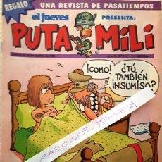 Coleccionismo de Revista El Jueves: REVISTA EL JUEVES - PUTA MILI - 10 AL 16 AGOSTO 1994 - AÑO III - Nº 111 -. Lote 148385290
