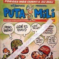 Coleccionismo de Revista El Jueves: REVISTA EL JUEVES - PUTA MILI - 28 OCTUBRE AL 3 NOVIEMBRE 1992 - AÑO I - Nº 18 -. Lote 148386138
