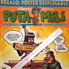 Coleccionismo de Revista El Jueves: REVISTA EL JUEVES - PUTA MILI - 11 AL 17 OCTUBRE 1995 - AÑO IV - Nº 172 -. Lote 148386654