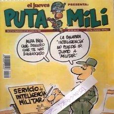 Coleccionismo de Revista El Jueves: REVISTA EL JUEVES - PUTA MILI - 27 SEPTIEMBRE AL 3 OCTUBRE 1995 - AÑO IV - Nº 170 -. Lote 148387874
