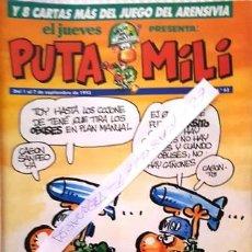 Coleccionismo de Revista El Jueves: REVISTA EL JUEVES - PUTA MILI - 1 AL 7 SEPTIEMBRE 1993 - AÑO II - Nº 62 -. Lote 149266378