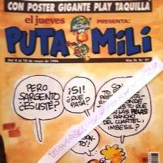 Coleccionismo de Revista El Jueves: REVISTA EL JUEVES - PUTA MILI - 4 AL 10 MAYO 1994 - AÑO III - Nº 97 -. Lote 149266426