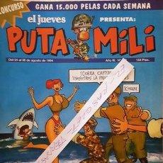 Coleccionismo de Revista El Jueves: REVISTA EL JUEVES - PUTA MILI - 24 AL 30 AGOSTO 1994 - AÑO III - Nº 113 -. Lote 149266462