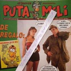 Coleccionismo de Revista El Jueves: REVISTA EL JUEVES - PUTA MILI - 16 AL 22 ENERO 1996 - AÑO V - Nº 186 -. Lote 149266538
