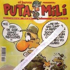 Coleccionismo de Revista El Jueves: REVISTA EL JUEVES - PUTA MILI - 5 AL 11 MARZO 1996 - AÑO V - Nº 193 -. Lote 149266742