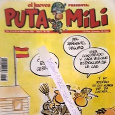 Coleccionismo de Revista El Jueves: REVISTA EL JUEVES - PUTA MILI - 19 AL 25 MARZO 1996 - AÑO V - Nº 195 -. Lote 149266850
