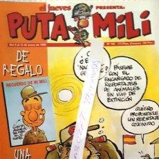 Coleccionismo de Revista El Jueves: REVISTA EL JUEVES - PUTA MILI - 9 AL 15 ENERO 1996 - AÑO V - Nº 185 -. Lote 149266970