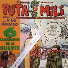 Coleccionismo de Revista El Jueves: REVISTA EL JUEVES - PUTA MILI - 2 AL 8 ENERO 1996 - AÑO V - Nº 184 -. Lote 149267238
