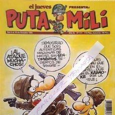 Coleccionismo de Revista El Jueves: REVISTA EL JUEVES - PUTA MILI - 4 AL 10 OCTUBRE 1995 - AÑO IV - Nº 171 -. Lote 149267450