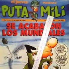 Coleccionismo de Revista El Jueves: REVISTA EL JUEVES - PUTA MILI - 13 AL 19 JULIO 1994 - AÑO III - Nº 107 -. Lote 149267754