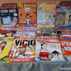 Coleccionismo de Revista El Jueves: REVISTAS EL JUEVES. AÑO 2002. 12 UNIDADES DIFERENTES.. Lote 149819162