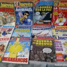 Coleccionismo de Revista El Jueves: REVISTAS EL JUEVES. AÑO 1999. 12 UNIDADES DIFERENTES.. Lote 149819990