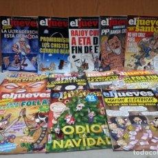 Coleccionismo de Revista El Jueves: REVISTAS EL JUEVES. AÑO 2017. 12 UNIDADES DIFERENTES.. Lote 149826406