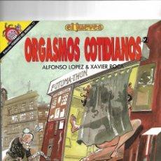 Coleccionismo de Revista El Jueves: ORGASMOS COTIDIANOS Nº 77. CONTIENE 4. PÁGINAS DEL CAPITAN TRUENO COLECCIÓN PENDONES DEL HUMOR.. Lote 151501506