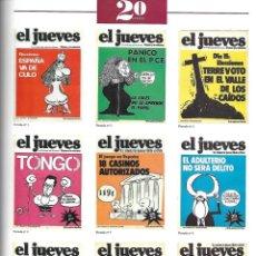 Coleccionismo de Revista El Jueves: EL JUEVES 20. AÑOS 1977 - 1997. ESPECIAL COLECCIONISTAS 1044. PORTADAS DE 20. AÑOS VER LAS FOTOS.. Lote 151757662