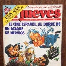 Coleccionismo de Revista El Jueves: REVISTA EL JUEVES. Nº 621. ABRIL 1989. EL CINE ESPAÑOL AL BORDE DE UN ATAQUE DE NERVIOS. Lote 152012770