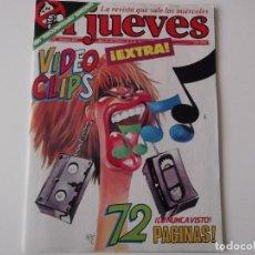 Coleccionismo de Revista El Jueves: REVISTA EL JUEVES Nº 405 FEBRERO-MARZO 1985. EXTRA VIDEO CLIPS. POSTER MIGUELITO BOSE DE GIN. Lote 152045658