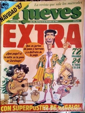 REVISTA DE HUMOR EL JUEVES EXTRA NAVIDAD 1987 UN DOS TRES RESPONDA OTRA VEZ (Coleccionismo - Revistas y Periódicos Modernos (a partir de 1.940) - Revista El Jueves)