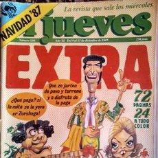Coleccionismo de Revista El Jueves: REVISTA DE HUMOR EL JUEVES EXTRA NAVIDAD 1987 UN DOS TRES RESPONDA OTRA VEZ. Lote 154338026