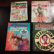 Coleccionismo de Revista El Jueves: 4 REVISTAS EL JUEVES 538, 335, 117, 123. Lote 155181745