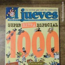 Coleccionismo de Revista El Jueves: MFF.- REVISTA EL JUEVES.- Nº 1000 - DEL 24 AL 30 DE JULIO 1996.- SUPER EXTRA ESPECIAL 1000.- 196 PAG. Lote 155389366