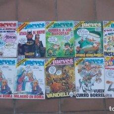 Coleccionismo de Revista El Jueves: REVISTA EL JUEVES-LOTE DE 10 EJEMPLARES-AÑO 1989. Lote 158585814