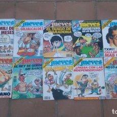 Coleccionismo de Revista El Jueves: REVISTA EL JUEVES-LOTE DE 10 EJEMPLARES-AÑO 1991. Lote 158586042