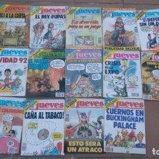 Coleccionismo de Revista El Jueves: REVISTA EL JUEVES-LOTE DE 14 EJEMPLARES-AÑO 1992. Lote 158586490