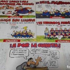 Coleccionismo de Revista El Jueves: LOTE 5 COMICS BARÇA POR OSCAR (EL JUEVES) EDITADOS POR EL PERIODICO BUEN ESTADO. Lote 158951502