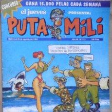 Coleccionismo de Revista El Jueves: LOTE Nº 16 REVISTA EL JUEVES - PUTA MILI - 24 AL 30 DE AGOSTO 1994 - AÑO III - Nº 113. Lote 158994850