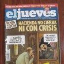 Coleccionismo de Revista El Jueves: REVISTA EL JUEVES Nº 1668 - AÑO 2009 - PÓSTER CENTRAL Y MASCARILLAS GRIPE PORCINA INCLUIDOS. Lote 160525114
