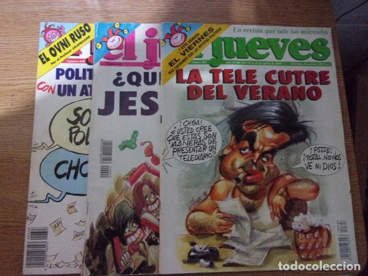 LOTE DE 3 REVISTAS EL JUEVES. (Coleccionismo - Revistas y Periódicos Modernos (a partir de 1.940) - Revista El Jueves)