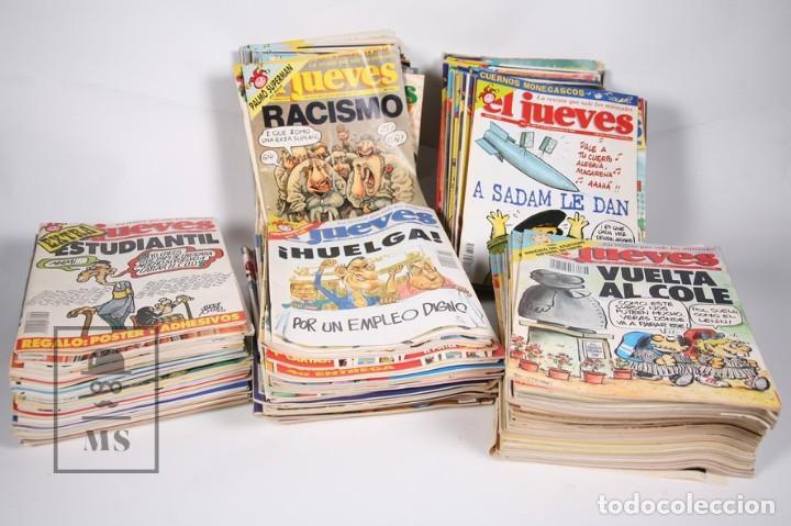 GRAN LOTE DE 154 REVISTAS - EL JUEVES - DEL AÑO 1991 AL 2000 (Coleccionismo - Revistas y Periódicos Modernos (a partir de 1.940) - Revista El Jueves)