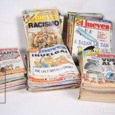 Coleccionismo de Revista El Jueves: GRAN LOTE DE 154 REVISTAS - EL JUEVES - DEL AÑO 1991 AL 2000 . Lote 163070622