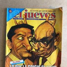 Coleccionismo de Revista El Jueves: EL JUEVES N°169 (AGOSTO, 1980). LO QUE LA CRISIS SE LLEVÓ.. Lote 168394954