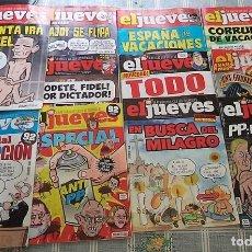 Coleccionismo de Revista El Jueves: 11 REVISTAS EL JUEVES CON 3 ESPECIALES CORRUPCION ANTI PP LA INFANTA IRA A LA CARCEL. Lote 168754684